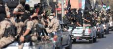 """صور.. مسير عسكري مهيب لـ""""سرايا القدس"""" في غزة"""