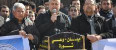 صور... الجهاد تنظم وقفة تضامنية مع الأسير المضرب عن الطعام محمد القيق