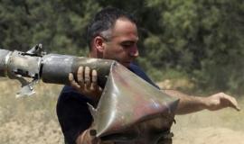 قصف السرايا لمدينة بئر السبع بصاروخ جراد