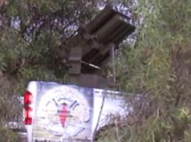 قصف مواقع العدو بصواريخ 107 عبر راجمة محمولة