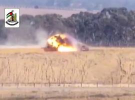 سرايا القدس وكتائب القسام تستهدفان آلية صهيونية شرق الوسطى بصاروخ كورنيت 5-5-219م