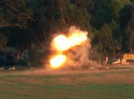 استهداف حافلة صهيونية بصاروخ كورنيت