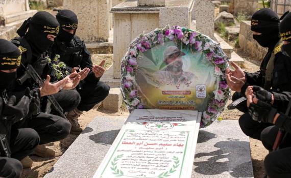 زيارة قبر الشهيد بهاء أبو العطا (4)