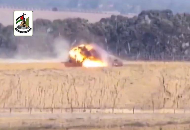 استهداف آلية صهيونية بصاروخ كورنيت شرق الوسطى