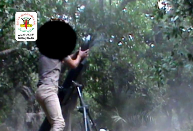 قصف المواقع الصهيونية في غلاف غزة