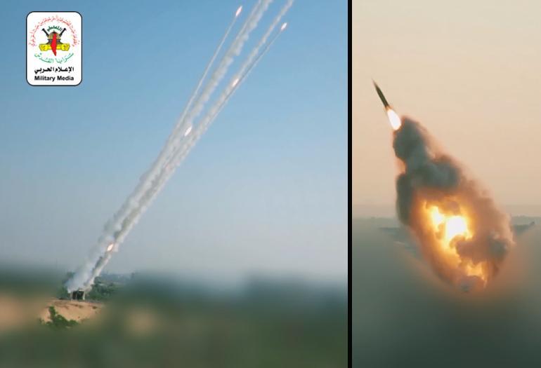 معركة صيحة الفجر.. رشقات صاروخية تجاه مدن ومغتصبات العدو